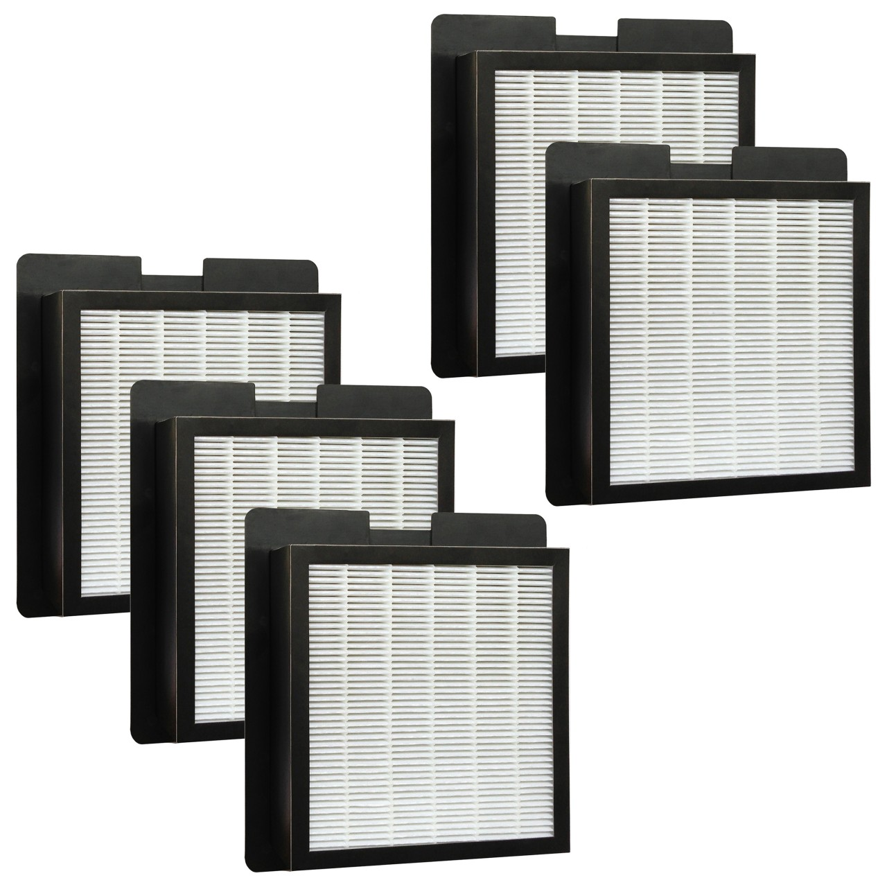 5 hepa filters for fresh air by ecoquest and xl 15 by