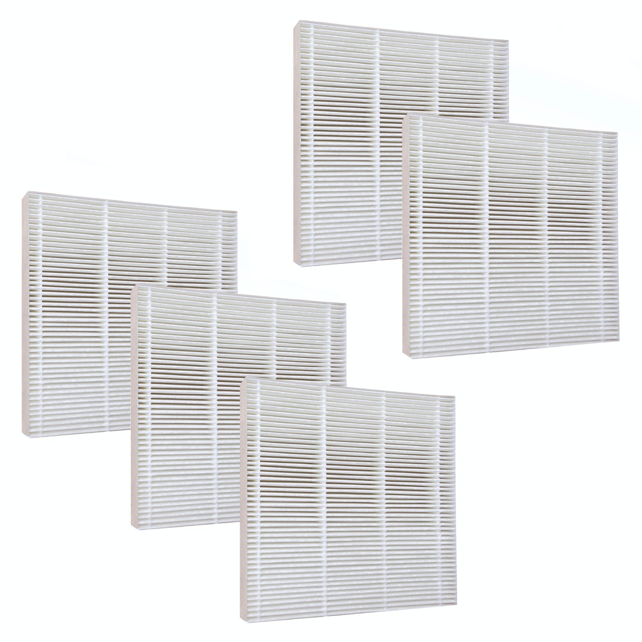 5 hepa filters for fresh air by ecoquest air purifier